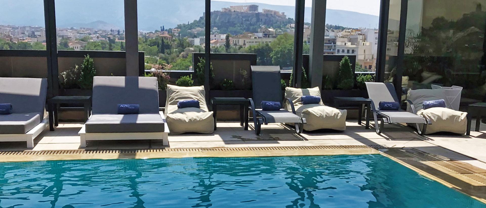 Enjoy your swim, overlooking the Acropolis!