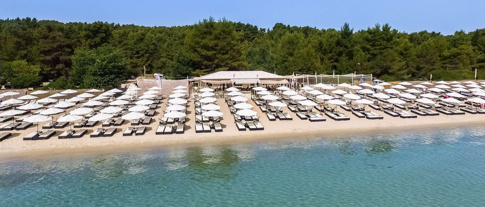 Cabana beach is the must destination for Chalkidiki.