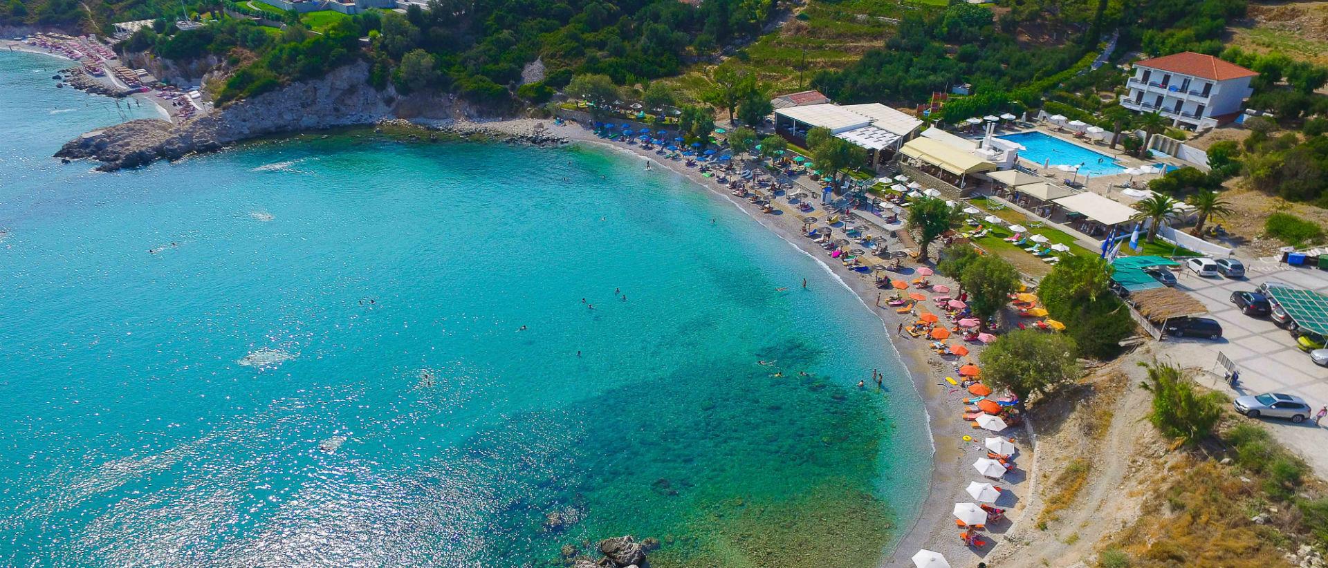 Μία από τις ομορφότερες και διασημότερες παραλίες του νησιού. Βραβευμένη με γαλάζια σημαία.