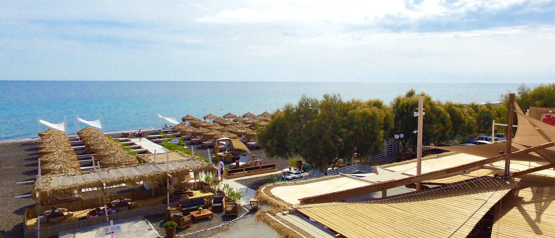 One of the coast's most beautiful beach bars for swimming and relaxing.